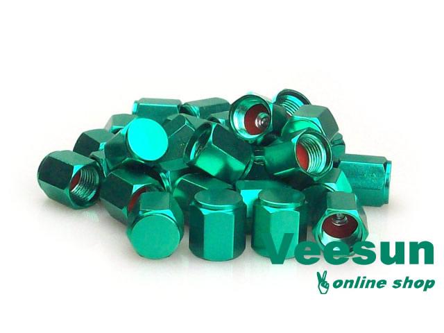 Green Valve Stem Caps [bag of 150]