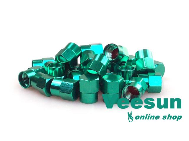 Green Tire Valve Caps [bag of 150]