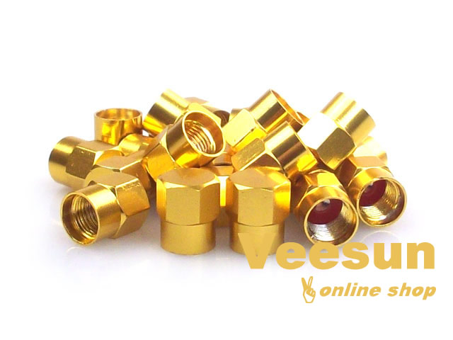 Golden Tire Valve Caps [bag of 150]