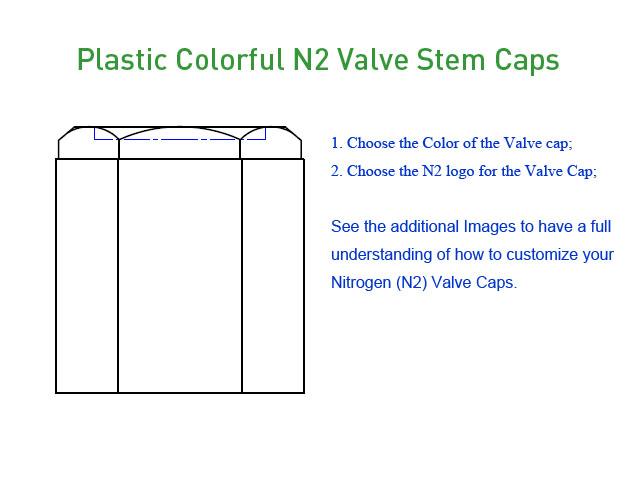 Plastic Colorful N2 Valve Stem Caps