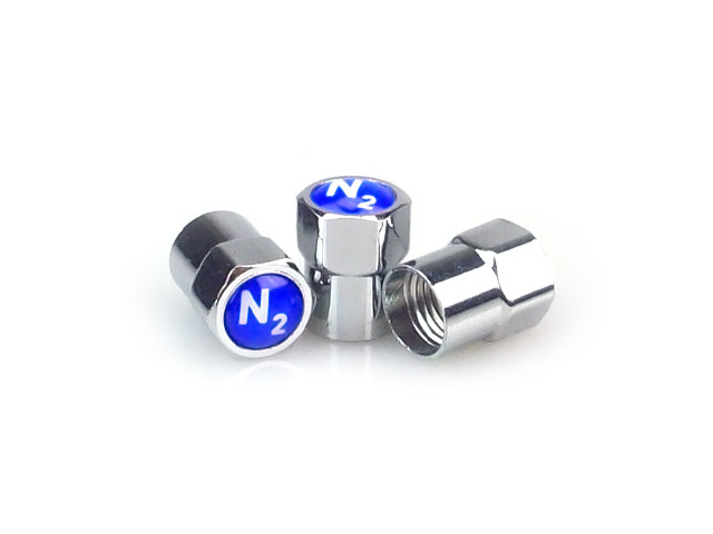 Blue N2 Tire Valve Caps [bag of 500]