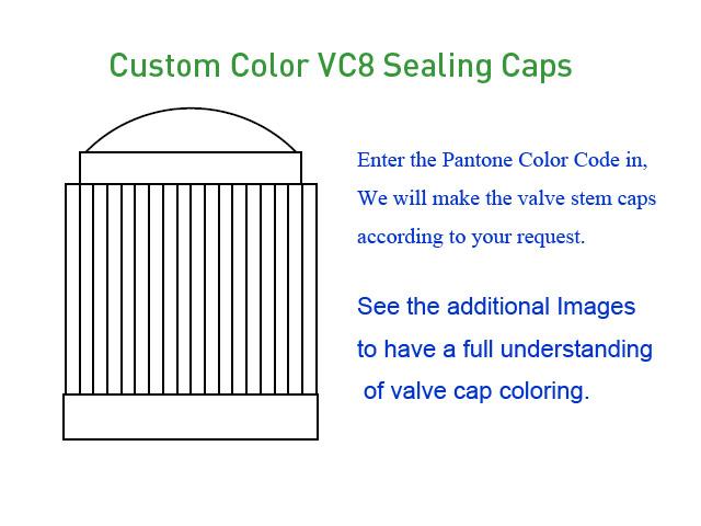 Custom Color VC8 Sealing Caps [bag of 1000]