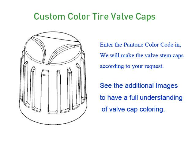 Custom Color Tire Valve Caps [bag of 1000]