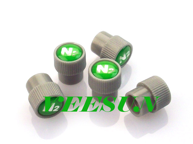 Gray N2 Tire Valve Caps [bag of 400]