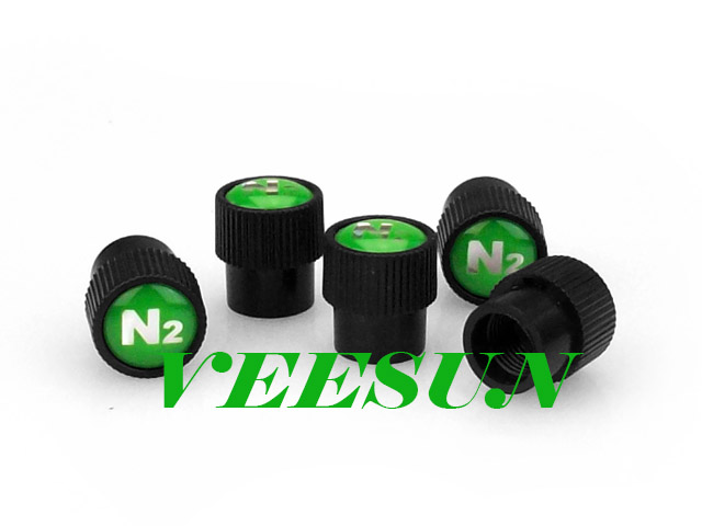 Black N2 Tire Valve Caps [bag of 400]