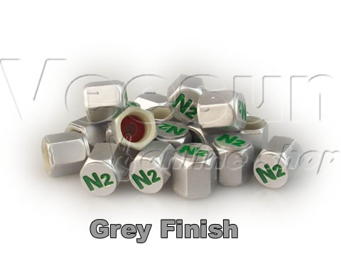 Grey TPMS N2 Valve Stem Caps [bag of 200]