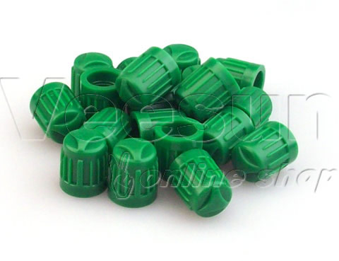 Green Valve Stem Caps [bag of 1000]